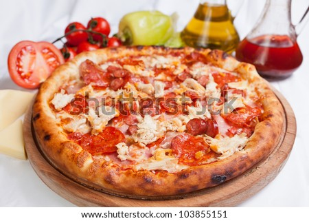 Meat Pizza - stock photo