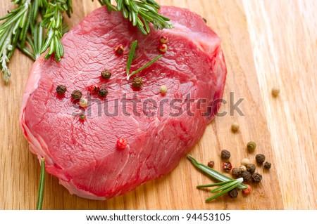 Meat Raw Steak - stock photo