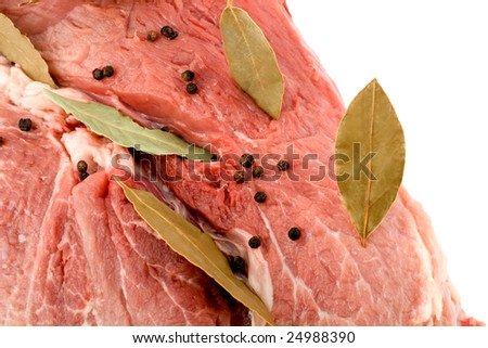 meat steak spices - stock photo