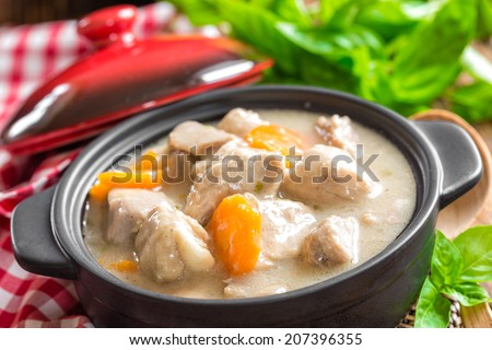Meat stew - stock photo