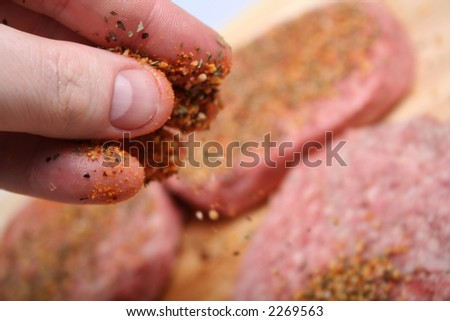 Meat to Grill - Preparing Meats for Grilling General Use - stock photo