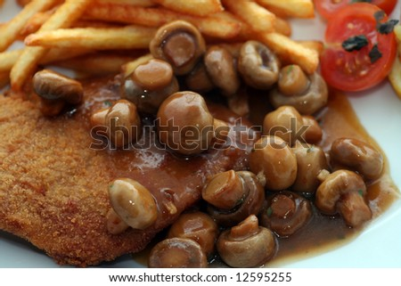 meat with mushrooms