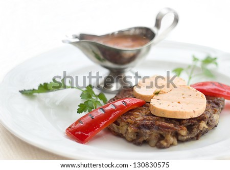 Meat with red pepper