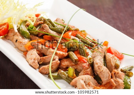 Meat with String Beans