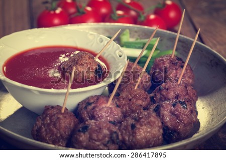 Meatball Appetizer - stock photo