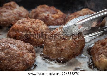 meatballs cooked - stock photo