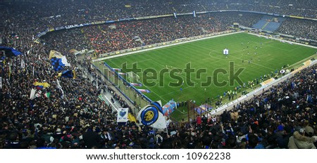 Meazza stadium panoramic view in Milan, Italy - stock photo