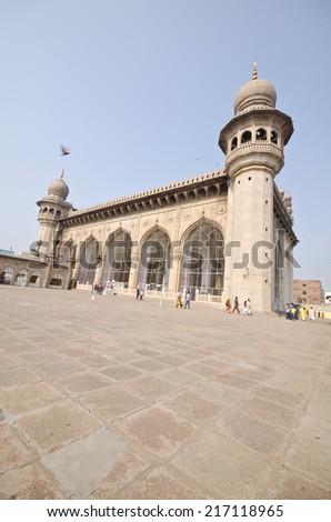 Mecca Masjid at Hyderabad, India  - stock photo