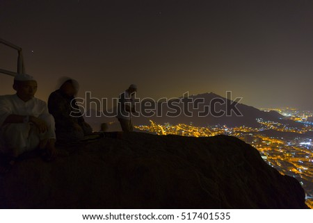 MECCA, SAUDI ARABIA - 02 JUNE 2016, Hira cave night mecca city