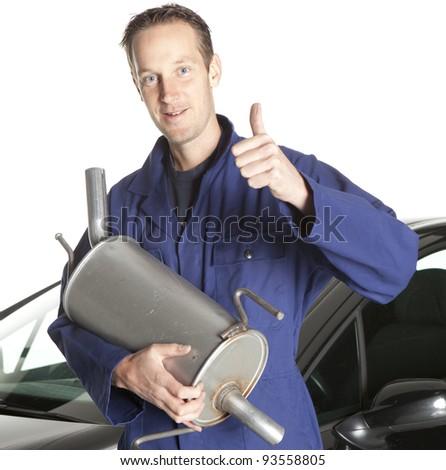 Mechanic at work - stock photo