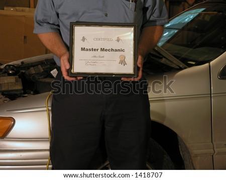 Mechanic Award - stock photo