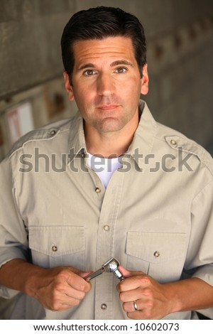 Mechanic or Blue Collar Worker - stock photo