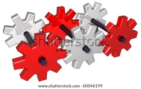 Mechanical aggregate - stock photo