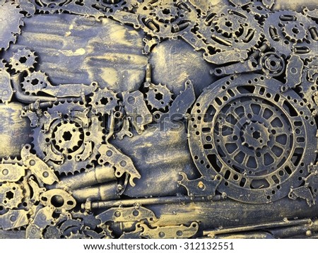 mechanical background - stock photo