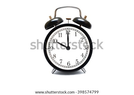 mechanical Clock. Isolated. on white background