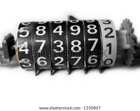 Mechanical Counter - stock photo