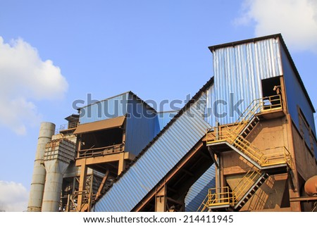 mechanical equipment in a steel plant, closeup of photo