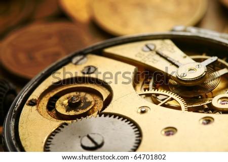 mechanical gear - stock photo