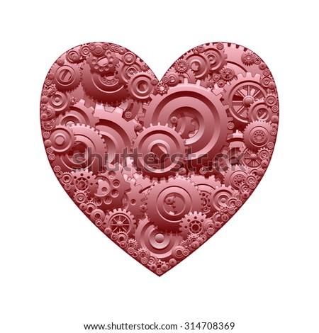 Mechanical heart - stock photo