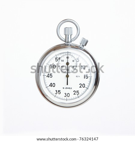 Mechanical russian stopwatch, deadline concept - stock photo