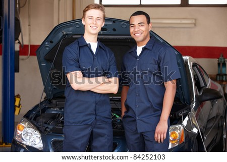 Mechanics at work - stock photo