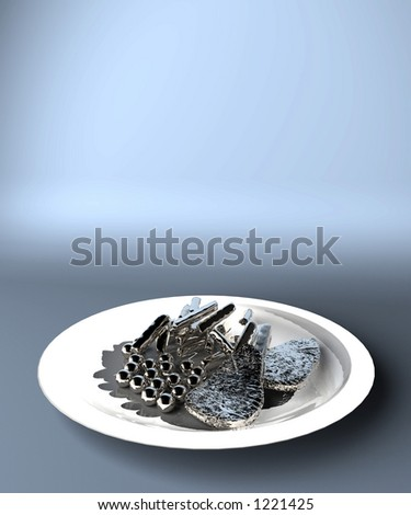 mechanised production of food - stock photo