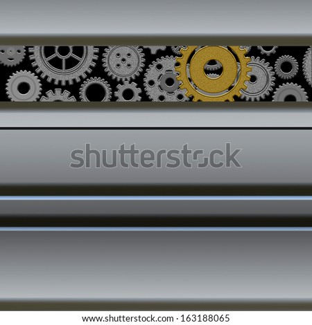 Mechanism with gears - stock photo