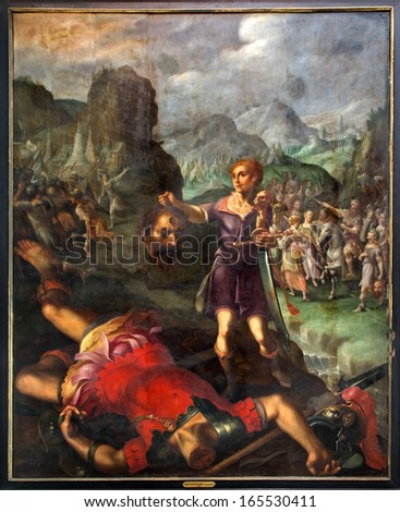 An analysis of the symbolism in the old testament story of goliath and david