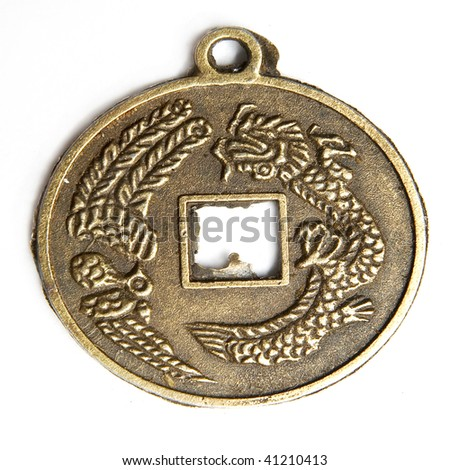 Medal bronze old - stock photo