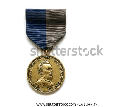 Medal of the civil war - stock photo