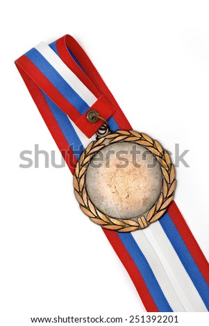 medal on the white background - stock photo