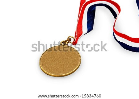 medal with black space for text