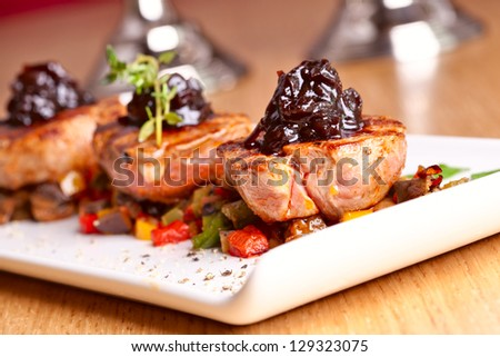 Medallions of veal - stock photo