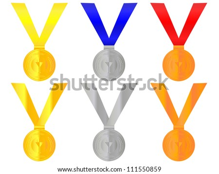 Medals 1 - stock photo