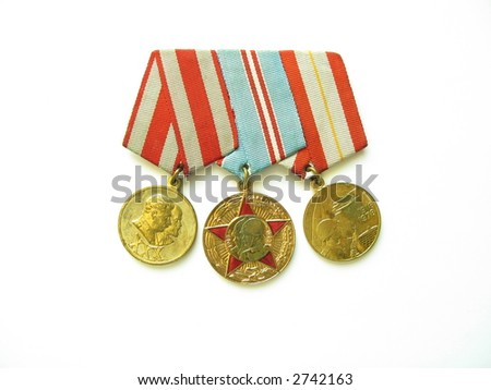 medals of II world war - stock photo