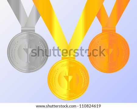 Medals Set - stock photo