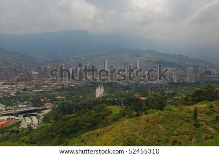 Medellin cityscape, Colombia - stock photo
