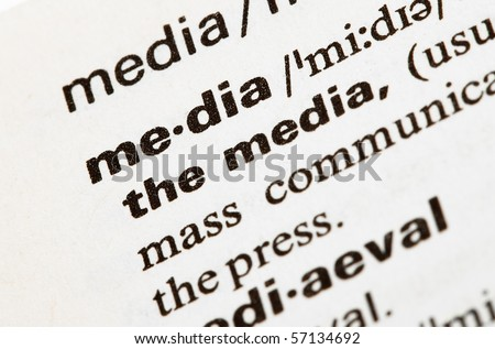 media - stock photo