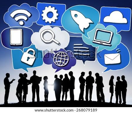 Media Communication Technology Latest Modern Concept - stock photo
