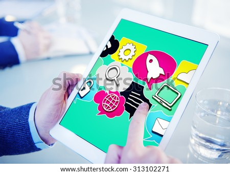 Media Communication Technology Latest Modern Concept - stock photo