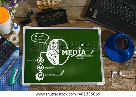 Media concept for business, consulting, finance, management, career. - stock photo