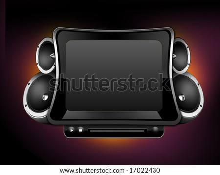Media player design - stock photo