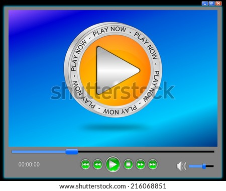 Media player interface - stock photo