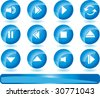 Media Player Set - stock vector