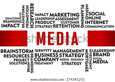 MEDIA word with business concept  - stock photo