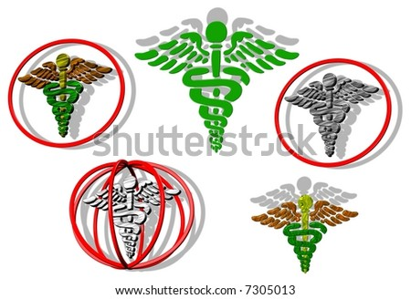 Medic logo - stock photo