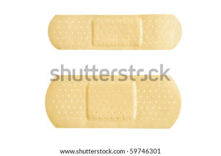 Medical aid plasters - stock photo
