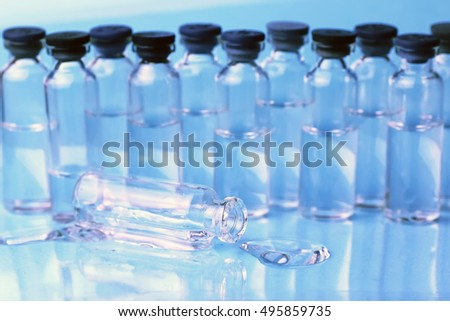 medical ampoules isolated