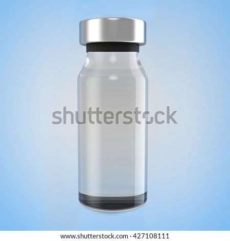 Medical ampule isolated. 3D illustration - stock photo