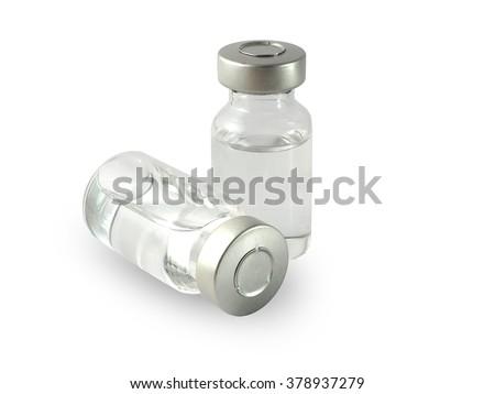 medical ampules isolated on white background isolated , Medicine ,drugs - stock photo
